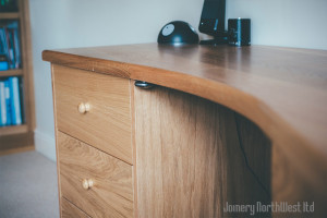 solid wood office desk - joinery northwest