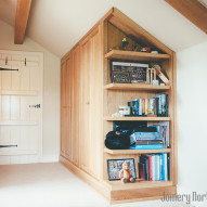 bespoke wood wardrobe with shelves - joinery northwest