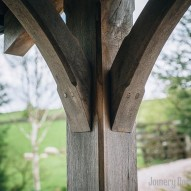 oak beams for porch - joinery northwest